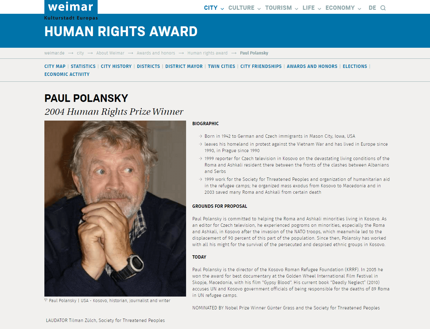 2004 Weimar Human Right Award